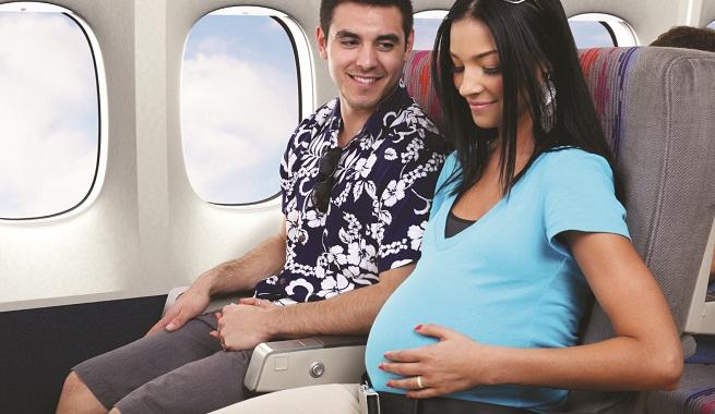 viajar en avión embarazada