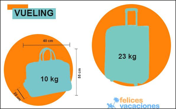 requisitos del equipaje de mano para viajar con Vueling