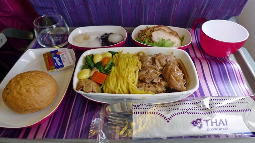 comida de los aviones
